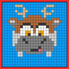 Sven tsum tsum perler hama bead pattern crochet c2c Frozen Cross Stitch, Geek Cross Stitch, Cross Stitch Patterns, Pearler Bead Patterns, Perler Patterns, Stitch Tsum Tsum, Perler Bead Disney, Pixel Crochet, Little Girls