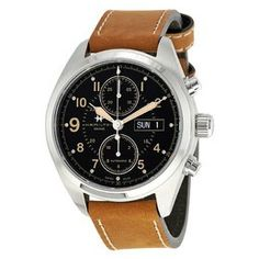 Hamilton Men's Khaki X Wind Automatic Chronograph Men's Watch H77616533 H77616533 - Watches, Hamilton - Jomashop Zeppelin Watch, Hamilton Khaki Field Automatic, Brown Band, Stainless Steel Case, Chronograph, Watches For Men, Brown Leather, Crystals, Display