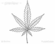 Printable Adult Color Page Marijuana Mary Jane Cannabis