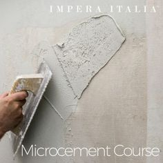 Microcement wall and floor kit offered by Impera Italia for a create durable contemporary design. Micro screed or beton cire look with an Italian finish Cement Walls, Concrete Wall, Concrete Floors, Polished Concrete Tiles, Cement Color, Cement Crafts, Wet Rooms, Micro Cement, Mosaic