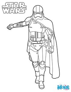 captain phasma coloring sheet from the new star wars movie the force awakens more star