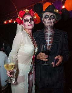 Halloween and Day of the Dead costumes in Playa del Carmen 2013