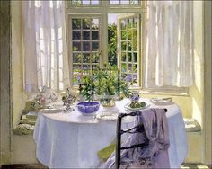 Patrick William Adam - The Morning Room Art Print. Explore our collection of Patrick William Adam fine art prints, giclees, posters and hand crafted canvas products Painting Frames, Painting Prints, Fine Art Prints, Open Window, Window Panes, Window Art, Window Seats, Through The Window, Love Home