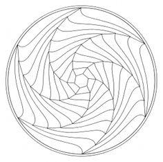 Display image coloring-page-mandala-optical-illusion