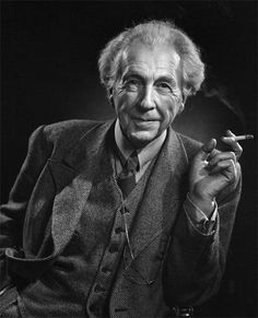 Frank Lloyd Wright (1867-1959) - American architect, interior designer, writer, and educator. Photo © Yousuf Karsch