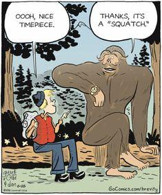 "borgman borgman Brozyna You happen to have a ""squatch"" that makes a squatch call every 15 min. Funny Cartoon Memes, Funny Comics, Bigfoot Party, Bigfoot Photos, Finding Bigfoot, Bigfoot Sightings, I'm A Believer, Bigfoot Sasquatch, Cryptozoology"
