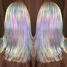 Ursula Goff · Straightened hologram hair IT'S SO PRETTYYYY