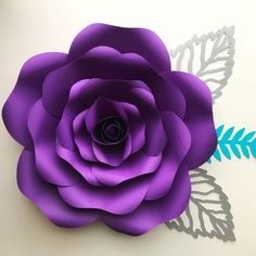 Paper Flower Rose Template #155