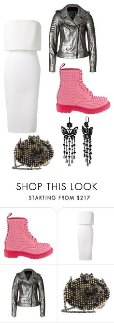 """#98"" by lovrek-ema ❤ liked on Polyvore featuring Dr. Martens, Victoria Beckham, Belstaff, Christian Louboutin and Betsey Johnson"