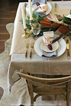 How lovely is the dried corn on this tablescape via restoration house interiors