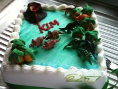 Birthday themed cake. Dinosaurs are always cool