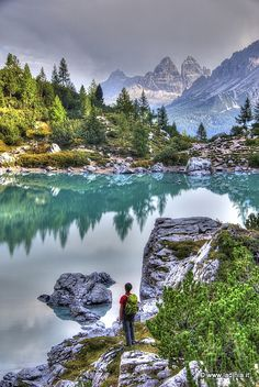 Lago del Sorapis, Dolomites, province of Belluno, Veneto, Northern Italy Vacation Places, Italy Vacation, Italy Travel, Places To Travel, Places To See, Places Around The World, Around The Worlds, Italy Landscape, Mountain Landscape