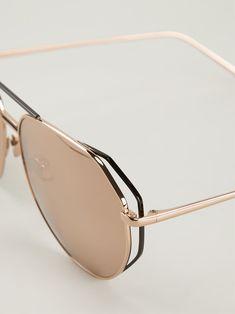 Linda Farrow '351' angular aviator sunglasses