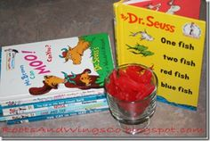 Some cute Dr. Seuss ideas (like having a bubble wrap popping break for A Hop on Pop connection- get it?!?).