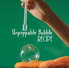 Make the unpoppable bubble and beat the evaporation odds in this DIY science experiment. Below is the video with the unpoppable bubble recipe!!