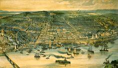 Montreal, Quebec, Canada, 1892 My Ancestors, Victoria, City Photo, Images, Canada, Montreal Quebec, Painting, Bridge, Urban