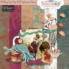 PS Sept 2015 Blog Train Bohemian Breeze Freebie Kit from Antebellum Press