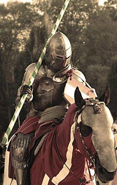 medieval jousting uploaded by Kassia Hartell on We Heart It Medieval World, Medieval Knight, Medieval Armor, Medieval Times, Medieval Fantasy, Medieval Party, Knight In Shining Armor, Knight Armor, Knight On Horse