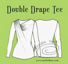 well-suited: Pattern Puzzle - Double Drape Tee