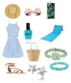 """""""Beach outfit"""" by designer-sarah ❤ liked on Polyvore featuring Valia Gabriel, Sensi Studio, Casetify, Palm Beach Jewelry, ZeroUV, Lauren B. Beauty, Picnic Time and Bling Jewelry"""