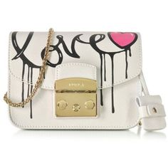 Furla Metropolis Mania Petalo Leather Mini Crossbody Bag