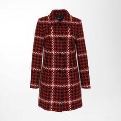 jetzt wird's kuschelig: Hahnentrittmantel im Retro-Look #Damenmode #Mantel #Herbst