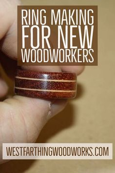 This is how you make a laminated wood ring. It's one of the easiest rings that you can make, and the wood that you use gives it the look. It's a lot of fun to combine different wood colors, and you can really create some interesting looks. Happy building.