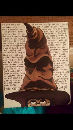 Harry Potter - Sorting Hat - Canvas Painting