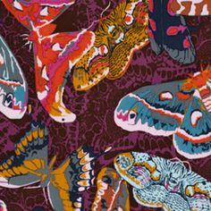 Sinister Swarm in Vivacious  Collection: Field Study   Designer: Anna Maria Horner   Manufacturer: Free Spirit | 1/2 yd, 10/29, Pink Castle Fabrics, unwashed