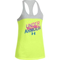 NEW! Under Armour Women's Volleyball Tank Top - Neon Yellow