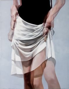 """Ho-Ryon Lee - """"Overlapping Image"""", painting, oil on canvas, 2009. Flashing female derrieres to near-exposure and using the double exposure technique common in photography on his oil paintings, Ho Ryon Lee's Overlapping Images collection takes the idea of exposure to a whole new level."""