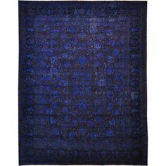 Sininen persialainen matto.