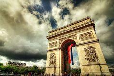 世界遺産 凱旋門 パリのセーヌ河岸の絶景写真画像 フランス