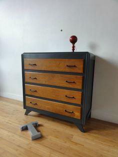 DSC00907 Upcycled Furniture, Furniture Makeover, Recycled Furniture, Painted Furniture, Furniture Restoration, Retro Decor, Vintage Furniture, Furniture Update, Wood Furniture Diy