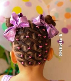 Large and Loose Braid with a High Pony - Braided Ponytail Hairstyles Cute Little Girl Hairstyles, Baby Girl Hairstyles, Toddler Hairstyles, Wedding Hairstyles, Curly Hair Styles, Natural Hair Styles, Girl Hair Dos, Braided Ponytail Hairstyles, Braids For Black Hair