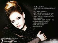Song titles...Avril...