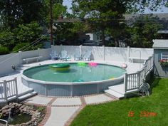 The Endearing Language of Flowers Above Ground Pool Landscaping, Above Ground Pool Decks, Backyard Pool Landscaping, Backyard Pool Designs, Above Ground Swimming Pools, In Ground Pools, Decks Around Pools, Pool Deck Plans, Swimming Pools Backyard
