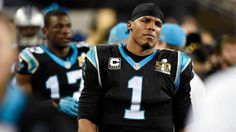 Carolina Panthers quarterback Cam Newton (1) looks pained as he walks the sideline while the Denver Broncos run the clock down in the fourth quarter in Super Bowl 50 at Levi's Stadium in Santa Clara, Calif., on Sunday, Feb. 7, 2016. The Broncos won, 24-10. (David T. Foster III/Charlotte Observer/TNS via Getty Images)
