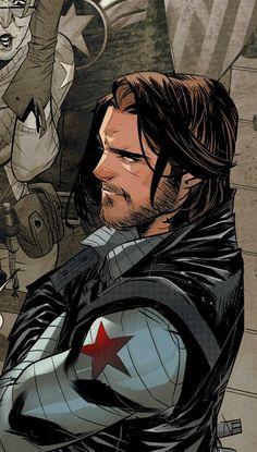 Marvel Art, Marvel Avengers, Winter Soldier Wallpaper, Bucky Barnes Aesthetic, Fanart, Marvel Wallpaper, Cute Cartoon Wallpapers, Marvel Memes, Sebastian Stan