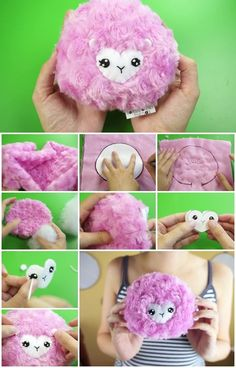 Here's the link to the tutorial >> How to Make Pygmy Puff Plush << by Lauren Fairweather Sock Crafts, Cute Crafts, Fabric Crafts, Sewing Crafts, Sewing Projects, Crafts For Kids, Diy Crafts, Harry Potter Theme, Harry Potter Birthday