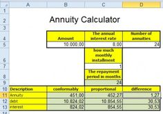 How to calculate repayment of a loan in Excel