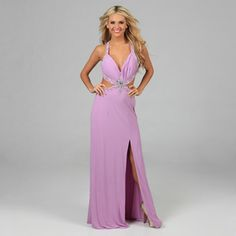 @Overstock - Look stunning in this feminine lilac gown featuring a beaded halter neck, pleated bust, slit leg, and a sexy cut away waist. This dress is finished with a beautiful cascading train with a beaded applique on the back.http://www.overstock.com/Clothing-Shoes/NV-Couture-Womens-Lilac-Cut-out-Waist-Beaded-Applique-Halter-Gown/7684948/product.html?CID=214117 $96.99