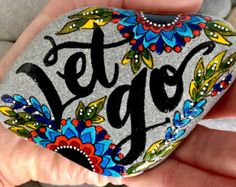 open your heart / painted rocks / painted by LoveFromCapeCod
