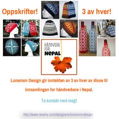 Monica i Lunamon design gir masse oppskrifter til Nepal. Kom inn og kjøp!