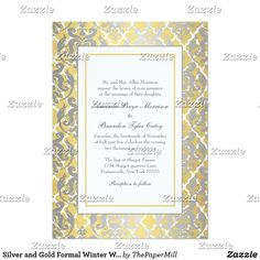 Silver and Gold Formal Winter Wedding