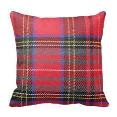 Red Tartan Plaid Throw Pillow - click/tap to personalize and buy. personalize and buy. Personalize this pillow with your own information and make it your own. Tartan Throws, Plaid Throw Pillows, Throw Cushions, Throw Pillow Cases, Tartan Plaid, Decorative Throw Pillows, Cover Pillow, Plaid Design, Custom Pillows