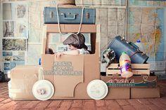 It's not a box, it's a truck. Cardboard Car, Cardboard Kitchen, Diy For Kids, Crafts For Kids, Green School, Transportation Theme, Time Kids, Toddler Fun, Kids Corner