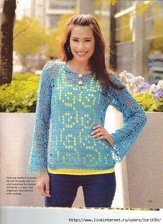 Crochetemoda: Crochet - Blouse