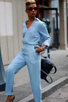It's up to you to determine how to wear your denim jumpsuit; but the best part about determining is you have many options. They're easy to wear and require very little maintenance. Some perfect ways t