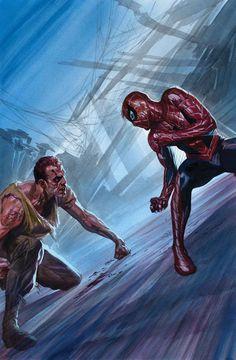 #Spiderman #Fan #Art. (Amazing Spider-Man #28 Cover) By: Alex Ross. ÅWESOMENESS!!!™ ÅÅÅ+